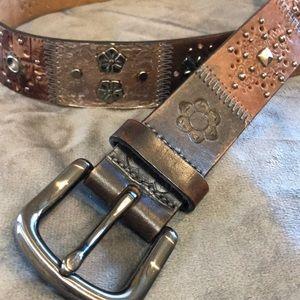 Fossil genuine leather patchwork belt